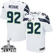 NFL Brandon Mebane Seattle Seahawks Elite Road Super Bowl XLVIII Nike Jersey - White