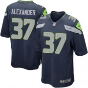 NFL Shaun Alexander Seattle Seahawks Game Team Color Home Nike Jersey - Navy Blue