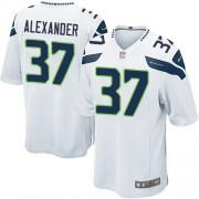 NFL Shaun Alexander Seattle Seahawks Game Road Nike Jersey - White