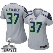 NFL Shaun Alexander Seattle Seahawks Women's Elite Alternate Super Bowl XLVIII Nike Jersey - Grey