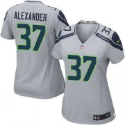 NFL Shaun Alexander Seattle Seahawks Women's Game Alternate Nike Jersey - Grey
