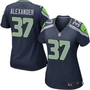 NFL Shaun Alexander Seattle Seahawks Women's Game Team Color Home Nike Jersey - Navy Blue