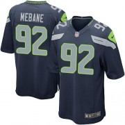 NFL Brandon Mebane Seattle Seahawks Game Team Color Home Nike Jersey - Navy Blue