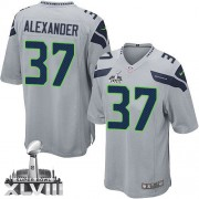 NFL Shaun Alexander Seattle Seahawks Youth Elite Alternate Super Bowl XLVIII Nike Jersey - Grey