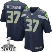 NFL Shaun Alexander Seattle Seahawks Youth Elite Team Color Home Super Bowl XLVIII Nike Jersey - Navy Blue