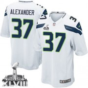 NFL Shaun Alexander Seattle Seahawks Youth Elite Road Super Bowl XLVIII Nike Jersey - White