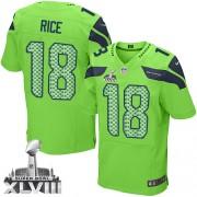 NFL Sidney Rice Seattle Seahawks Elite Alternate Super Bowl XLVIII Nike Jersey - Green