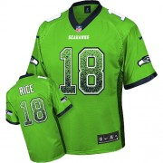 NFL Sidney Rice Seattle Seahawks Elite Drift Fashion Nike Jersey - Green