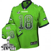 NFL Sidney Rice Seattle Seahawks Elite Drift Fashion Super Bowl XLVIII Nike Jersey - Green