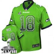 NFL Sidney Rice Seattle Seahawks Elite Drift Fashion Super Bowl XLVIII Nike Jersey - Green