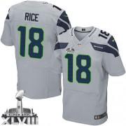NFL Sidney Rice Seattle Seahawks Elite Alternate Super Bowl XLVIII Nike Jersey - Grey