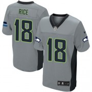 NFL Sidney Rice Seattle Seahawks Elite Nike Jersey - Grey Shadow