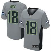 NFL Sidney Rice Seattle Seahawks Elite Nike Jersey - Grey Shadow