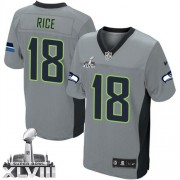 NFL Sidney Rice Seattle Seahawks Elite Super Bowl XLVIII Nike Jersey - Grey Shadow