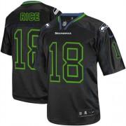 NFL Sidney Rice Seattle Seahawks Elite Nike Jersey - Lights Out Black
