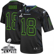 NFL Sidney Rice Seattle Seahawks Elite Super Bowl XLVIII Nike Jersey - Lights Out Black