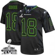 NFL Sidney Rice Seattle Seahawks Elite Super Bowl XLVIII Nike Jersey - Lights Out Black
