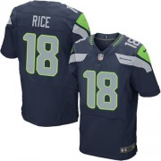 NFL Sidney Rice Seattle Seahawks Elite Team Color Home Nike Jersey - Navy Blue