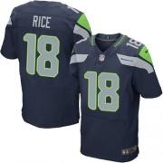 NFL Sidney Rice Seattle Seahawks Elite Team Color Home Nike Jersey - Navy Blue