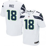 NFL Sidney Rice Seattle Seahawks Elite Road Nike Jersey - White