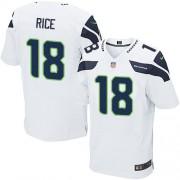 NFL Sidney Rice Seattle Seahawks Elite Road Nike Jersey - White