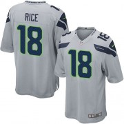 NFL Sidney Rice Seattle Seahawks Game Alternate Nike Jersey - Grey