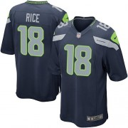 NFL Sidney Rice Seattle Seahawks Game Team Color Home Nike Jersey - Navy Blue