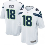NFL Sidney Rice Seattle Seahawks Game Road Nike Jersey - White