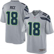 NFL Sidney Rice Seattle Seahawks Limited Alternate Nike Jersey - Grey