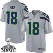 NFL Sidney Rice Seattle Seahawks Limited Alternate Super Bowl XLVIII Nike Jersey - Grey