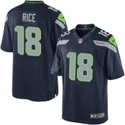 NFL Sidney Rice Seattle Seahawks Limited Team Color Home Nike Jersey - Navy Blue