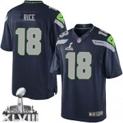 NFL Sidney Rice Seattle Seahawks Limited Team Color Home Super Bowl XLVIII Nike Jersey - Navy Blue