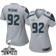 NFL Brandon Mebane Seattle Seahawks Women's Elite Alternate Super Bowl XLVIII Nike Jersey - Grey