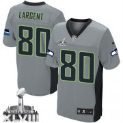 NFL Steve Largent Seattle Seahawks Elite Super Bowl XLVIII Nike Jersey - Grey Shadow