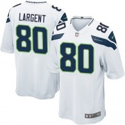 NFL Steve Largent Seattle Seahawks Game Road Nike Jersey - White