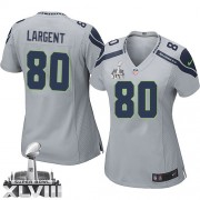 NFL Steve Largent Seattle Seahawks Women's Elite Alternate Super Bowl XLVIII Nike Jersey - Grey
