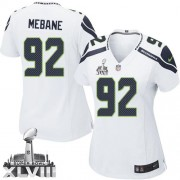 NFL Brandon Mebane Seattle Seahawks Women's Elite Road Super Bowl XLVIII Nike Jersey - White