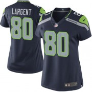 NFL Steve Largent Seattle Seahawks Women's Limited Team Color Home Nike Jersey - Navy Blue