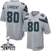 NFL Steve Largent Seattle Seahawks Youth Elite Alternate Super Bowl XLVIII Nike Jersey - Grey