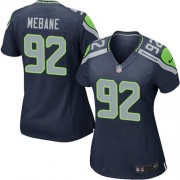 NFL Brandon Mebane Seattle Seahawks Women's Game Team Color Home Nike Jersey - Navy Blue