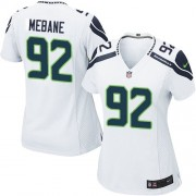 NFL Brandon Mebane Seattle Seahawks Women's Game Road Nike Jersey - White
