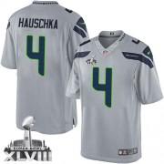NFL Steven Hauschka Seattle Seahawks Limited Alternate Super Bowl XLVIII Nike Jersey - Grey