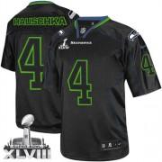 NFL Steven Hauschka Seattle Seahawks Limited Super Bowl XLVIII Nike Jersey - Lights Out Black