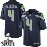 NFL Steven Hauschka Seattle Seahawks Limited Team Color Home Super Bowl XLVIII Nike Jersey - Navy Blue