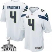 NFL Steven Hauschka Seattle Seahawks Limited Road Super Bowl XLVIII Nike Jersey - White