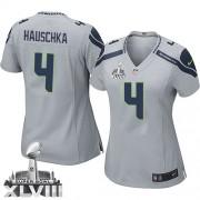 NFL Steven Hauschka Seattle Seahawks Women's Elite Alternate Super Bowl XLVIII Nike Jersey - Grey