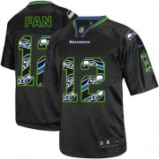 NFL 12th Fan Seattle Seahawks Elite Nike Jersey - New Lights Out Black