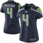 NFL Steven Hauschka Seattle Seahawks Women's Elite Team Color Home Nike Jersey - Navy Blue