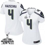 NFL Steven Hauschka Seattle Seahawks Women's Elite Road Super Bowl XLVIII Nike Jersey - White
