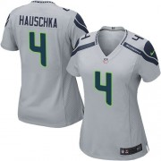NFL Steven Hauschka Seattle Seahawks Women's Game Alternate Nike Jersey - Grey